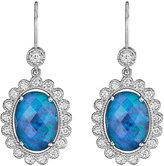 Penny Preville 18k White Gold Opal & Diamond Drop Earrings