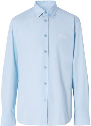 Burberry Monogram embroidered long-sleeved shirt
