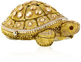Judith Leiber Couture Crystal-Embellished Turtle Clutch Bag, Yellow