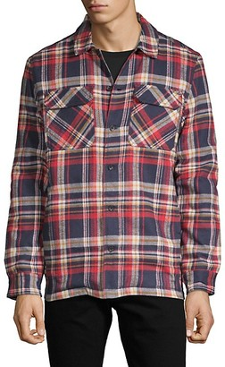 French Connection Tartan Twill Faux Fur-lined Shirt Jacket