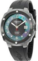 Alpina Men's Diamond 42mm Black Silicone Band Quartz Watch Al-240mpbd3fbaec6