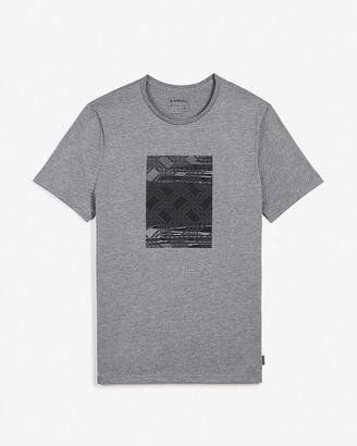 Express Gray Printed Graphic T-Shirt