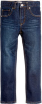 Epic Threads Slim-Straight Dark Wash Jeans, Little Boys (4-7), Created for Macy's