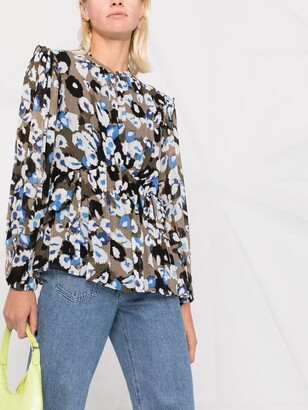 Lala Berlin Liquid Leo print blouse