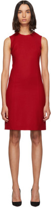 Dolce & Gabbana Red Short Crepe Dress