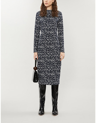 Ted Baker Liniee leopard-print bodcon crepe dress