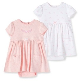 Little Me Baby Girls 100% Organic Cotton Garden Bodysuit Dress Set