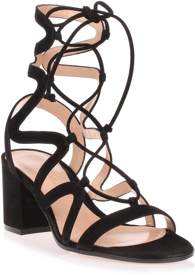 Gianvito Rossi Artemis 60 Black suede sandal