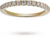 Brilliant cut 0.31 total carat weight diamond half eternity ring in 18 carat yellow gold
