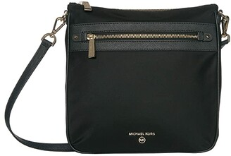 MICHAEL Michael Kors Jet Set Charm Large North/South Crossbody (Black) Handbags