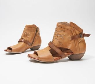 Miz Mooz Leather Wide Heeled Sandals- Caleb