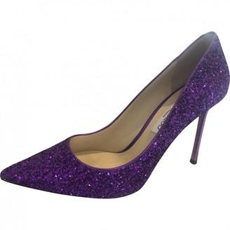Jimmy Choo Romy Purple Glitter Heels