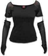 Spiral - GOTHIC ROCK - Mesh Glove Long Sleeve Top - S