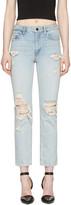 Alexander Wang Blue Cult Straight-leg Jeans