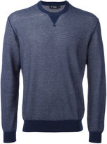 Hackett neck detail sweatshirt