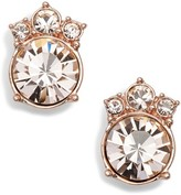 Givenchy Women's Crystal Button Stud Earrings