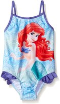 Disney Toddler Girls Ariel Swimsuit with Shell Print