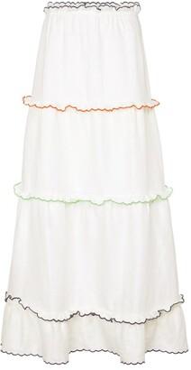 Sir. Francine linen maxi skirt