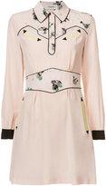 Coach abstract print shirt dress - women - Cupro/Silk - 2