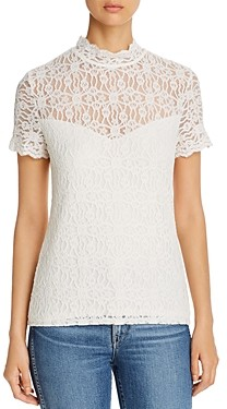 Red Haute Lace Tee