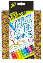 Crayola ; Art with Edge Thick n' Thin Markers 20ct