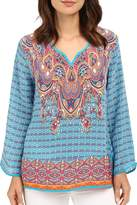 Tolani Mixed Print Blouse