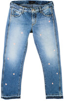 Thumbnail for your product : Alanui Star Applique Straight-Leg Jeans