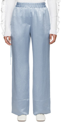 Acne Studios Blue Satin Drawstring Trousers