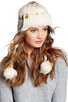 Muk Luks Snowflake Faux Fur Pompom Trapper