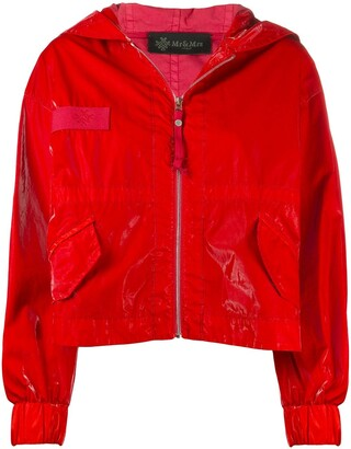 Mr & Mrs Italy high-shine hooded jacket