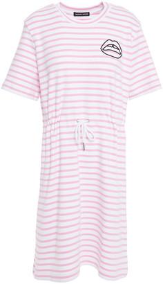 Markus Lupfer Ivy Embroidered Striped Stretch-cotton Mini Dress