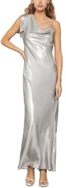 BCBGMAXAZRIA Metallic Satin Gown