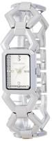 Steve Madden Women&s Hexagon Enamel Link Bracelet Watch