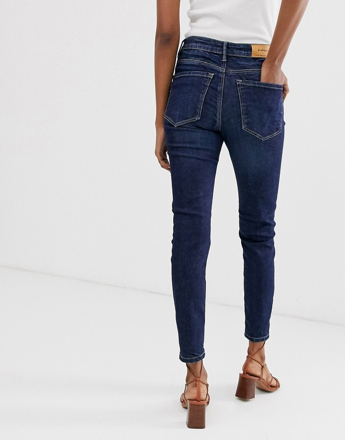 Thumbnail for your product : Stradivarius join life low waist skinny jeans in dark wash