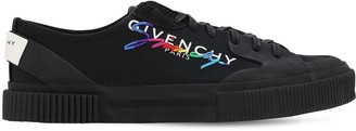 Givenchy Rainbow Logo Canvas & Leather Sneakers