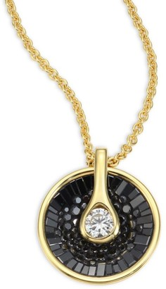 Plevé Opus Black Diamond & 18K Yellow Gold Pendant Necklace