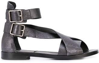 Alberto Fermani crossover strap sandals