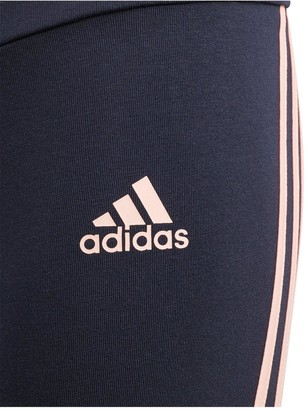 adidas Girls 3-Stripes Tight -Navy