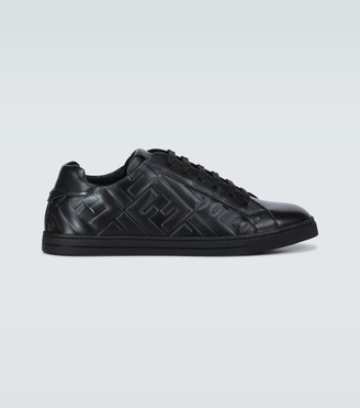 Fendi Embossed leather sneakers