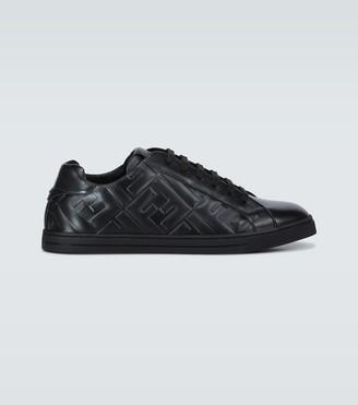 Fendi Embossed leather sneakers