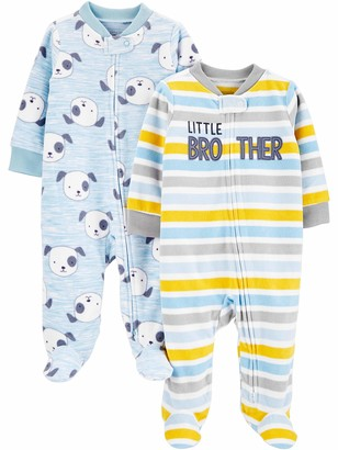 Simple Joys by Carter's 2-Pack Fleece Footed Sleep and Play Baby and Toddler Sleepers