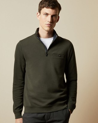 Ted Baker Half Zip Funnel Neck Jumper