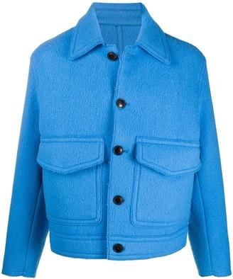 Ami Paris Boxy Fit Patch Pockets Jacket