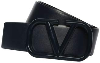 Valentino 30MM LEATHER BELT W/V-LOGO