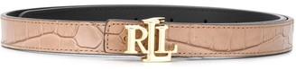 Lauren Ralph Lauren Gold-Tone Logo Belt