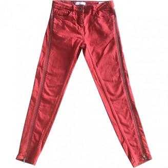 Sandro Red Cotton - elasthane Jeans for Women