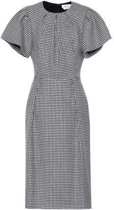 Alexander McQueen Checked wool dress
