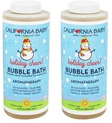 California Baby Bubble Bath ''Holiday'' Vanilla Orange and Lavender - 13 fl oz (2 Pack) by
