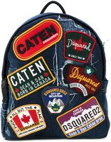 Dsquared2 - badge patch backpack - men - Cotton/Leather - One Size