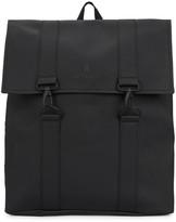 Rains Black rubberised backpack